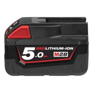 Milwaukee M28 B5 5.0 AH batteri med længere driftstid
