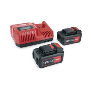 FLEX P 55 R Akku Sæt 2 x 5,0 AH Batteri + lader