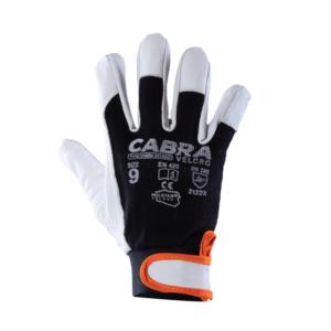 Forstærket læderhandske Cabra Velcro